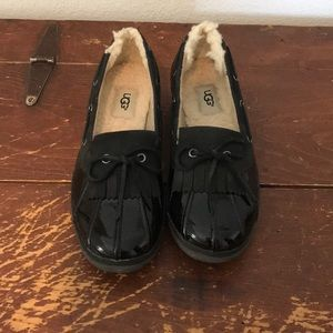 Ugg patent leather loafers